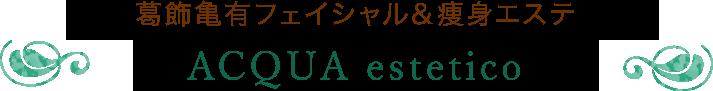 葛飾亀有フェイシャル&痩身エステ ACQUA estetico