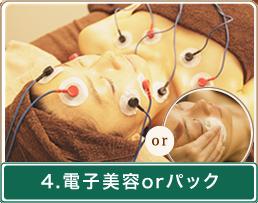 4.電子美容orパック